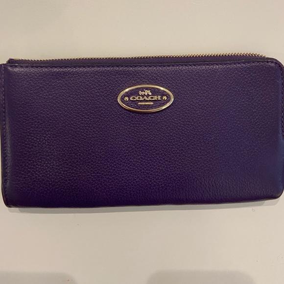 Coach Handbags - Purple Coach Wristlet